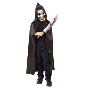 Déguisement Clown maniaque à capuche garçon