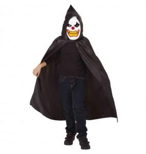 Déguisement Clown perturbé à capuche garçon