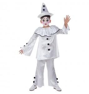 Déguisement Clown Pierrot pour garçon
