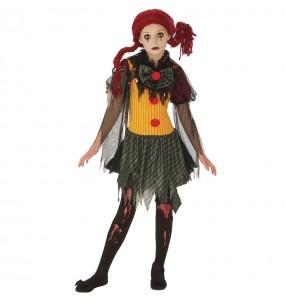 Déguisement Clown Zombie fille