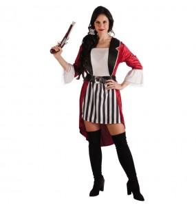 Déguisement Pirate Barbe Noire pour femme
