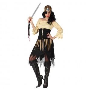 Déguisement Pirate Beige femme