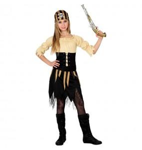 Déguisement Pirate Tête de Mort pour fille