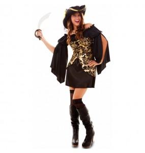 Déguisement Pirate dorée femme