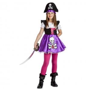 Déguisement Pirate pourpre fille