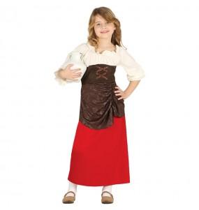 Déguisement Aubergiste Médiévale pour fille