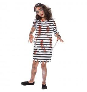 Costume Prisonnière Zombie fille