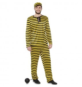 Déguisement Prisonnier jaune homme