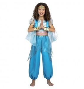 Déguisement Princesse Arabe turquoise fille