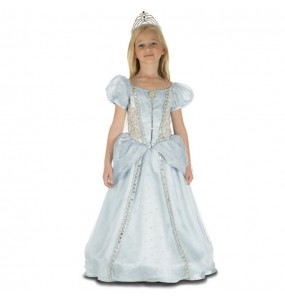 Déguisement Princesse Bleue Deluxe pour fille