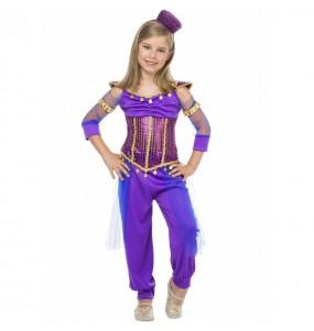 Déguisement Princesse Jasmine violet fille