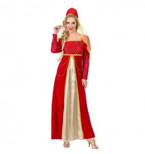 Déguisement Princesse Médiévale Rouge pour femme