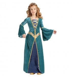 Déguisement Princesse Médiévale Verte pour fille