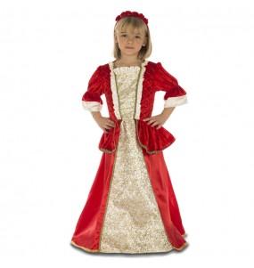 Déguisement Princesse Rouge Deluxe pour fille