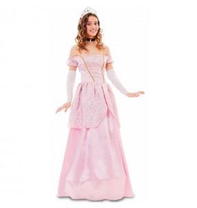 Déguisement Princesse rose conte femme