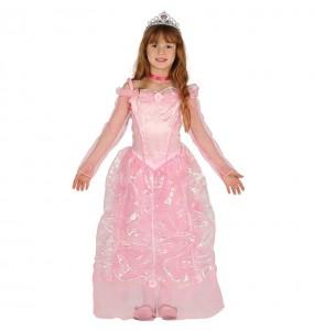 Déguisement Robe Princesse Rose Deluxe pour fille