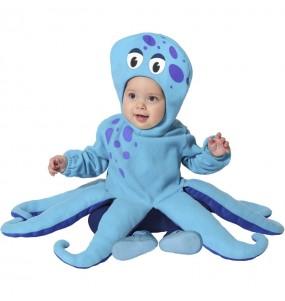 Déguisement Poulpe bleu bébé