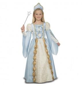 Déguisement Reine Médiévale Bleu fille