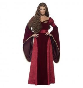 Déguisement Reine Médiévale Deluxe femme