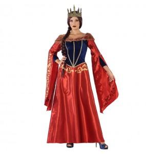 Déguisement Reine Médiéval Rouge femme
