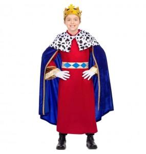 Déguisement Roi Mage cape bleue garçon