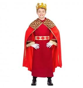 Déguisement Roi Mage cape rouge garçon