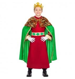 Déguisement Roi Mage cape verte garçon