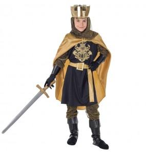 Déguisement Roi Médiéval Doré pour garçon