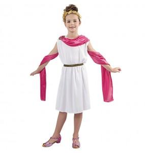 Déguisement Romaine Rose enfant