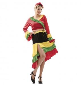 Déguisement Rumba multicolore femme
