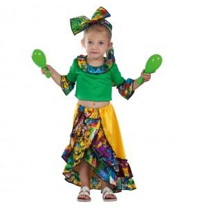 Déguisement Danseuse Rumba Tropicale bébé