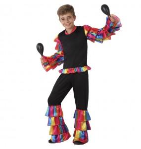 Déguisement Danseur Rumba Multicolore garçon