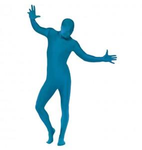 Déguisement Seconde peau bleu adulte