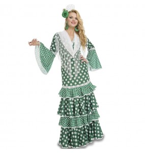Déguisement Danseuse Flamenco Vert femme
