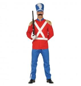 Déguisement Soldat de Plomb rouge homme