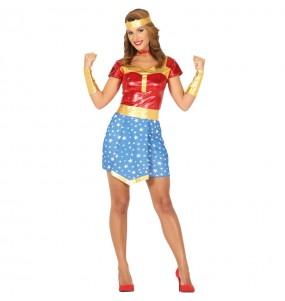 Déguisement Super héros Wonder Woman femme