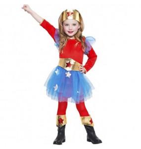 Déguisement Super-héroïne Wonder Woman pour fille