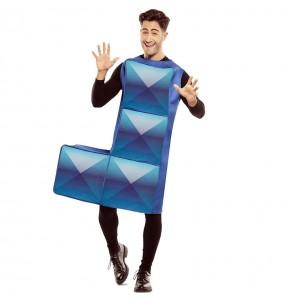 Déguisement Tetris Bleu Foncé homme