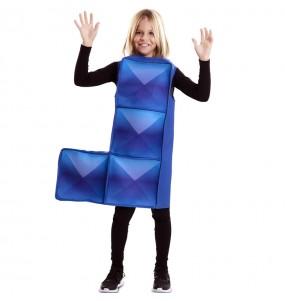 Déguisement Tetris Bleu foncé enfant