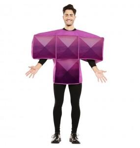 Déguisement Tetris Violet homme