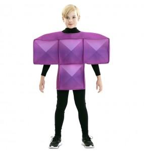 Déguisement Tetris Violet enfant