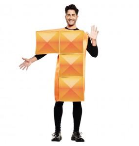 Déguisement Tetris Orange homme