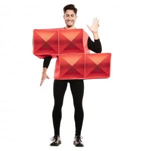 Déguisement Tetris Rouge homme