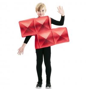 Déguisement Tetris Rouge enfant