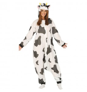 Disfraz de Vaca Kigurumi para adulto
