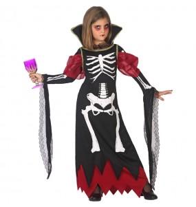 Déguisement Vampiresse Squelette fille