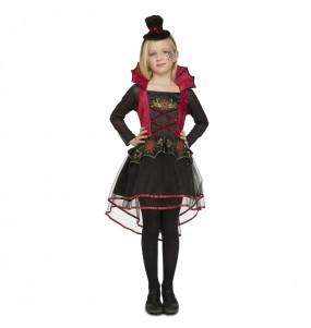 Déguisement Vampiresse Rouge Chic pour fille