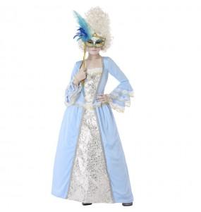 Déguisement Vénitienne Époque Bleue fille