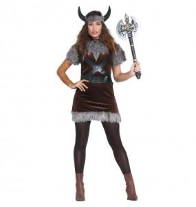 Déguisement Viking Barbare pour femme