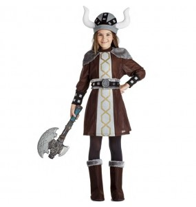 Déguisement Viking sauvage fille